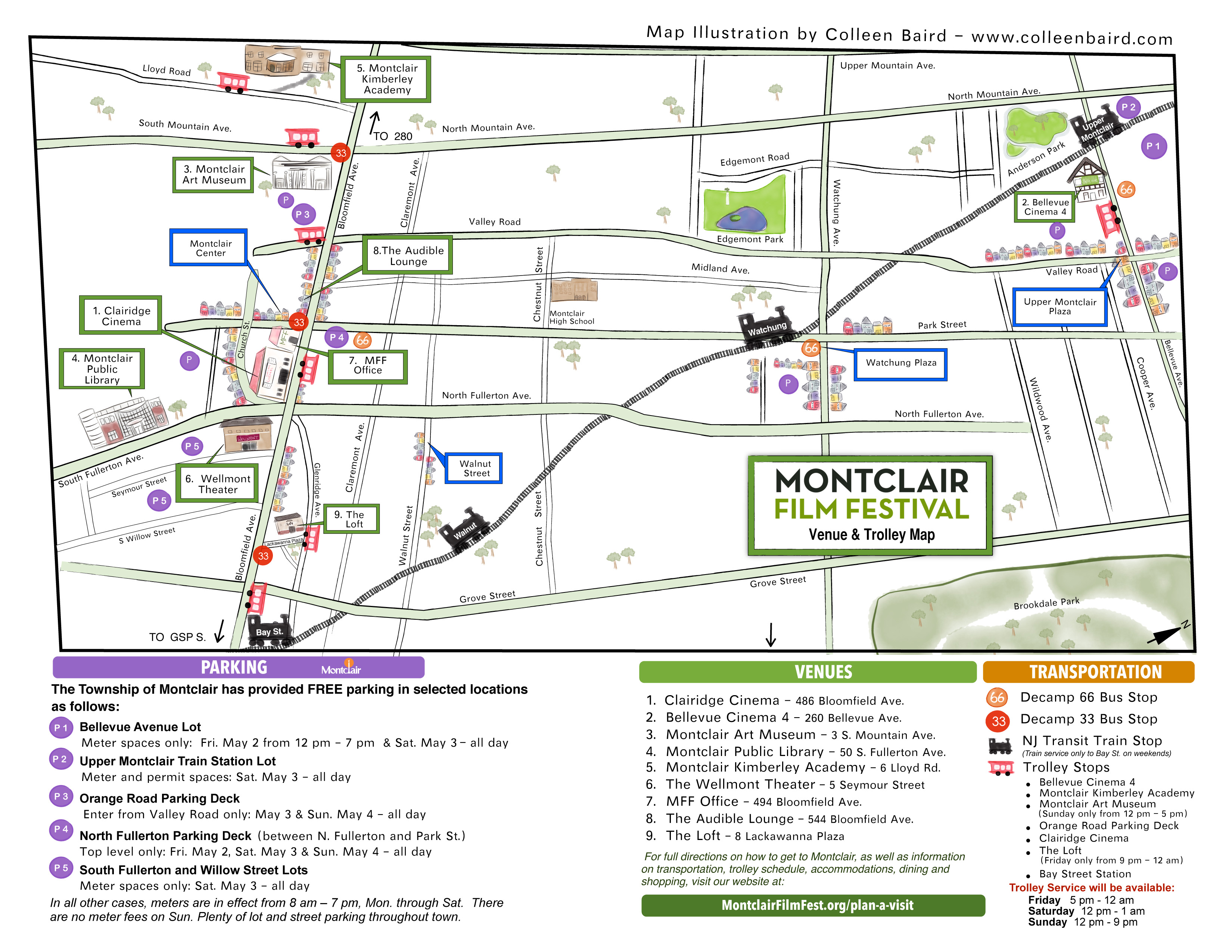 Map of Montclair
