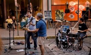 Sockmonsters perform on Church Street