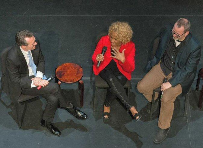 Thom Powers, Darlene Love and  Photo by Neil Grabowsky  /  Montclair Film Festival