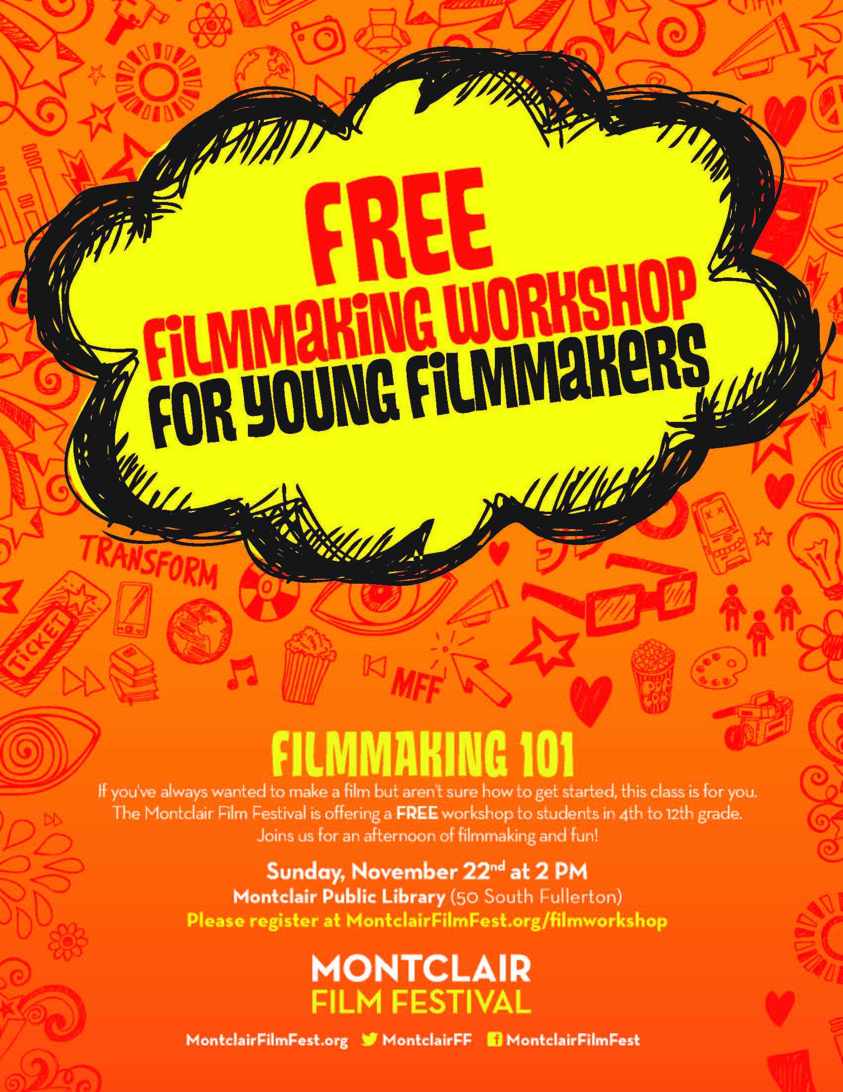 Free Filmmaking Workshop Montclair Film